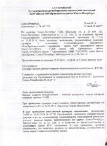 Акт проверки ГАТИ 1 001